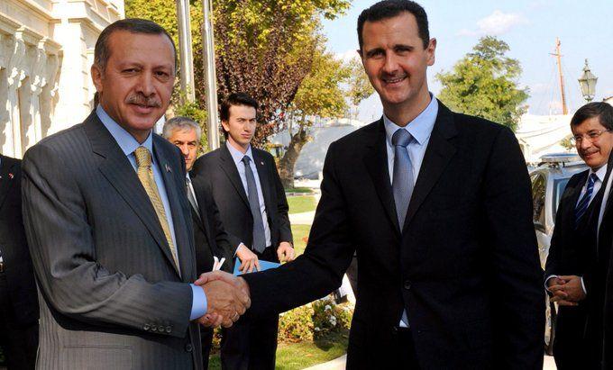 Bashar Al Assad & Erdogan 2008
